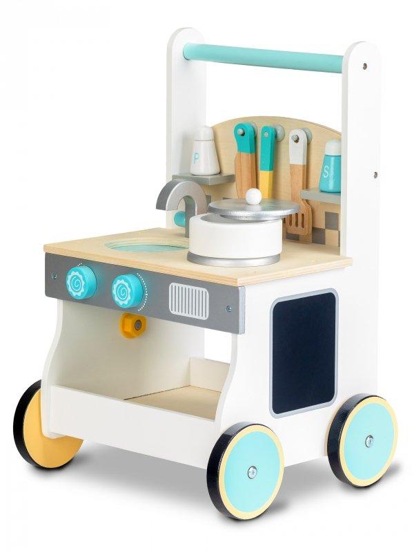 Lauflernwagen Spielküche+Zubehör  2in1 ECOTOYS Holz Kinderküche Lauflernhilfe