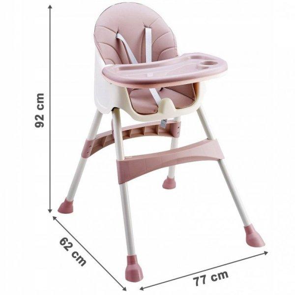 Hochstuhl ECOTOYS Babyhochstuhl 2in1 Kinderhochstuhl Kinderstuhl Baby Tablett