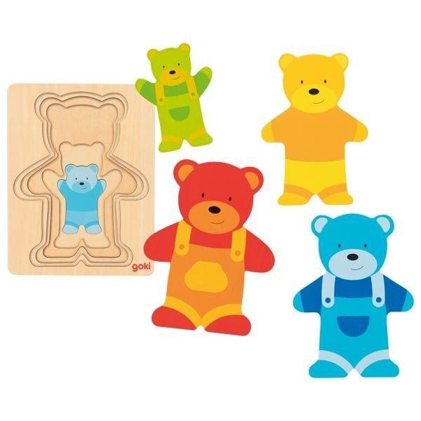 Schichtenpuzzle Teddybär