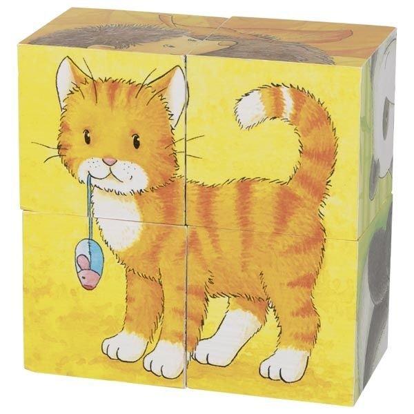 Würfelpuzzle-Tiere