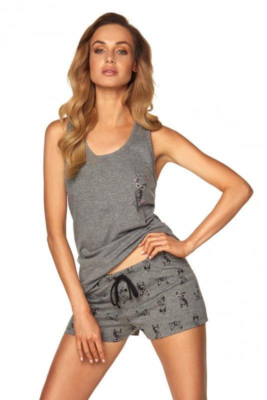 Piżama Emily SAL-PY-1167.II Szara melange