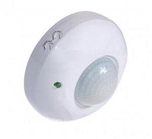 Czujnik ruchu PIR IP65 230V biały LUX01303  Czujnik ruchu PIR sufitowy 360 stopni biały 230V