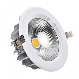 Oprawa 40W LED V-TAC COB Downlight Okrągły A++ 120lm/W VT-26451 6000K 4800lm