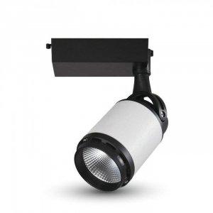 Oprawa Track Light LED V-TAC 10W 24st Czarny Biały VT-4512 6400K 800lm