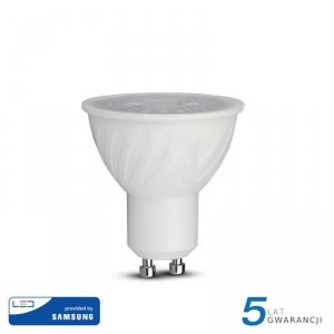 Żarówka LED V-TAC SAMSUNG CHIP 6.5W GU10 38st D VT-227 6400K 480lm 5 Lat Gwarancji
