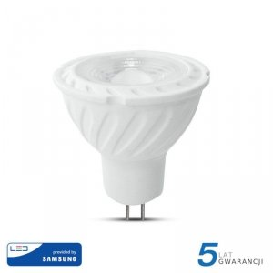 Żarówka LED V-TAC SAMSUNG CHIP 6.5W GU5.3 MR16 12V 38st VT-267 3000K 450lm 5 Lat Gwarancji