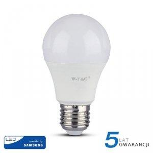Żarówka LED V-TAC SAMSUNG CHIP 9W E27 A60 VT-210 6400K 806lm 5 Lat Gwarancji
