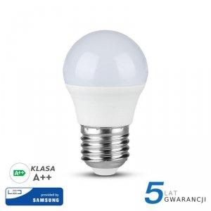 Żarówka LED V-TAC SAMSUNG CHIP 4.5W E27 A++ Kulka G45 VT-245 6400K 470lm 5 Lat Gwarancji
