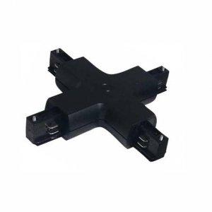 Łącznik Szynoprzewodu X Krzyżowy Track Light 3 fazowy Czarny V-TAC