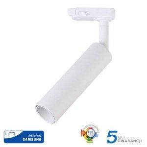 Oprawa 15W LED V-TAC Track Light SAMSUNG CHIP CRI90+ Biała VT-415 3000K 1200lm 5 Lat Gwarancji