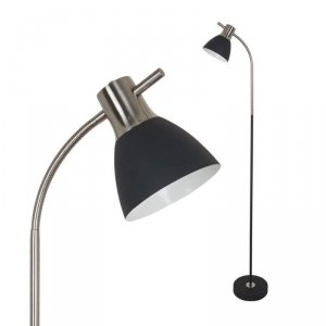Lampa Podłogowa V-TAC E27 60W Czarny + Satyna VT-7600