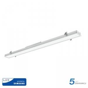 Oprawa V-TAC LED Linear SAMSUNG CHIP 40W Wpuszczana Biała 120cm VT-7-41 4000K 3200lm 5 Lat Gwarancji