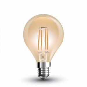 Żarówka LED V-TAC 4W Filament E14 P45 Kulka Bursztyn VT-1835 2200K 350lm