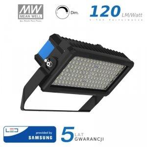 Projektor LED V-TAC 250W SAMSUNG CHIP Mean Well Driver Ściemnialny IP66 120st VT-253D 4000K 30000lm 5 Lat Gwarancji