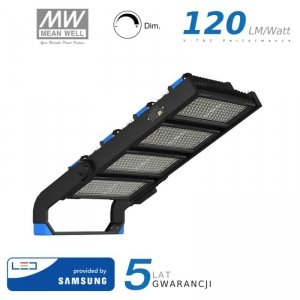 Projektor LED V-TAC 1000W SAMSUNG CHIP Mean Well Driver Ściemnialny IP66 60st VT-1002D 4000K 120000lm 5 Lat Gwarancji