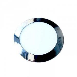 Panel LED Slim V-TAC 24W LED Chrom Okrągły VT-2407CH 3000K 2000lm