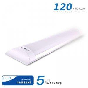 Oprawa V-TAC 10W LED Liniowa Natynkowa SAMSUNG CHIP 30cm 120lm/W VT-8-10 4000K 1200lm 5 Lat Gwarancji
