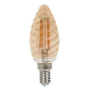 Żarówka LED V-TAC 4W Filament E14 Świeczka Bursztyn Twist VT-1948 2200K 350lm