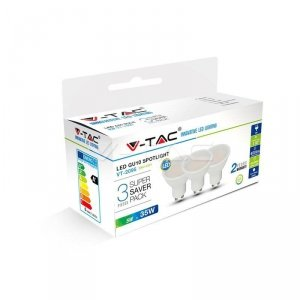 Żarówka LED V-TAC 5W GU10 SMD (Opak. 3szt) VT-2095 4000K 400lm