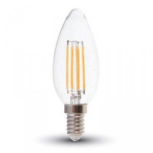Żarówka LED V-TAC V-TAC 6W Filament E14 Przezroczysta Świeczka VT-2127 4000K 600lm