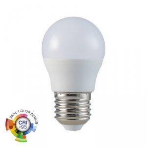 Żarówka LED V-TAC 5.5W E27 G45 Kulka CRI95+ VT-2216 6400K 470lm