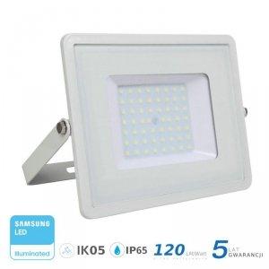 Projektor LED V-TAC 50W SAMSUNG CHIP SLIM Biały 120lm/W VT-56 6400K 6000lm 5 Lat Gwarancji