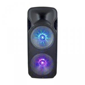 Głośnik Przenośny V-TAC 150W Mikrofon Bezprzewodowy i Przewodowy 2 Głośniki, RGB, PILOT, na kółkach VT-6215-2
