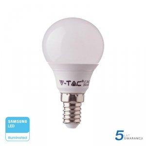 Żarówka LED V-TAC SAMSUNG CHIP 7W E14 Kulka P45 VT-270 6000K 600lm 5 Lat Gwarancji