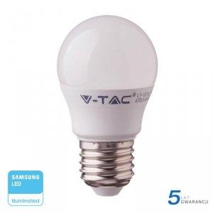 Żarówka LED V-TAC SAMSUNG CHIP 7W E27 Kulka G45 VT-290 4000K 600lm 5 Lat Gwarancji