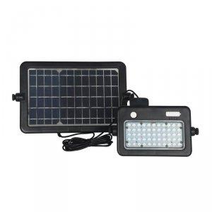 Projektor LED Solarny V-TAC 10W USB Czarny IP65 VT-788-10 4000K 1100lm