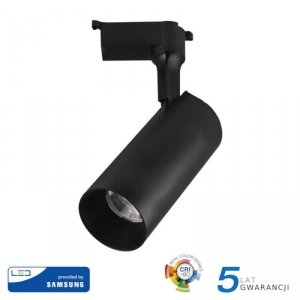 Oprawa 18W LED V-TAC Track Light SAMSUNG CHIP CRI90+ Czarna 24st VT-418 4000K 1260lm 5 Lat Gwarancji