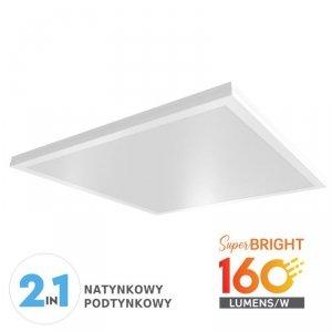 Panel LED V-TAC 25W 600x600x55mm 160lm/W Natynkowy/Podtynkowy VT-6125 6400K 4000lm