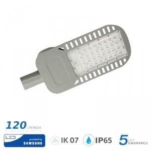 Oprawa Uliczna LED V-TAC SAMSUNG CHIP 50W Soczewki 110st 120lm/W VT-54ST 6400K 6000lm 5 Lat Gwarancji
