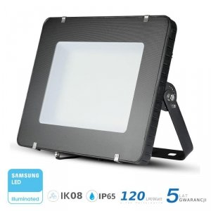 Projektor LED V-TAC 400W SAMSUNG CHIP Czarny 120lm/W 100st VT-405 4000K 48000lm 5 Lat Gwarancji