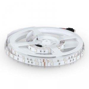 Taśma LED V-TAC SMD5050 150LED IP20 4,8W/m VT-5050 RGB 500lm