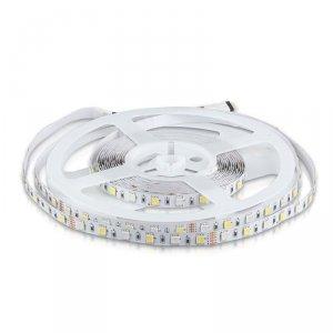 Taśma LED V-TAC SMD5050 300LED RGBW IP20 9W/m VT-5050 6400K+RGB 900lm