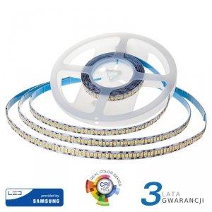 Taśma LED V-TAC SAMSUNG CHIP 2835 1200LED 24V IP20 CRI95+ 10mb 18W/m VT-10 6000K 1500lm 3 Lata Gwarancji