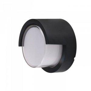Oprawa Ścienna V-TAC 7W LED Czarna Okrągła IP65 VT-831 3000K 400lm