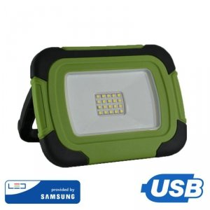 Projektor LED V-TAC 10W Ładowalny USB SAMSUNG CHIP Funkcja SOS 3,7V Li-Ion IP44 VT-11-R 4000K 700lm
