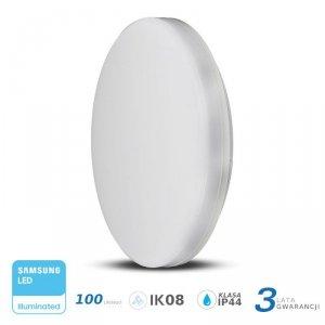 Plafon Natynkowy Okrągły V-TAC 15W LED SAMSUNG CHIP IP44 100lm/W VT-8033 3000K 1500lm 3 Lata Gwarancji