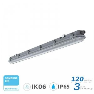 Oprawa Hermetyczna LED V-TAC SAMSUNG CHIP M-SERIES 18W 60cm 120LM/W CL VT-60018 4500K 2160lm 3 Lata Gwarancji