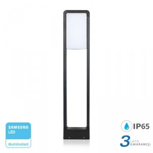 Słupek Ogrodowy 10W LED SAMSUNG CHIP Czarny IP65 VT-33 3000K 900lm 3 Lata Gwarancji