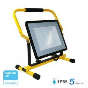 Projektor Przenośny LED V-TAC 100W SAMSUNG CHIP IP65 3mb VT-109 6400K 8000lm 5 Lat Gwarancji