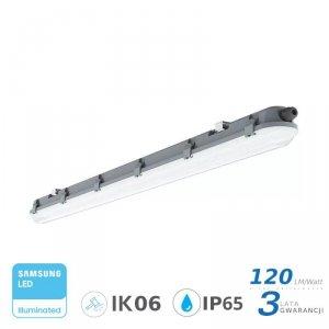 Oprawa Hermetyczna LED V-TAC SAMSUNG CHIP M-SERIES 18W 60cm 120LM/W ML VT-60018 6400K 2160lm 3 Lata Gwarancji