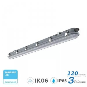 Oprawa Hermetyczna LED V-TAC SAMSUNG CHIP M-SERIES 48W 150cm 120LM/W CL SS Clip VT-150048 6400K 5760lm 3 Lata Gwarancji
