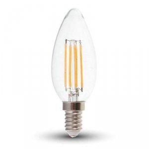 Żarówka LED V-TAC 4W Filament E14 Świeczka Ściemnialna VT-1986D 2700K 400lm