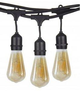 Zestaw Girlanda 10m + 10 szt żarówka LED retro 4W