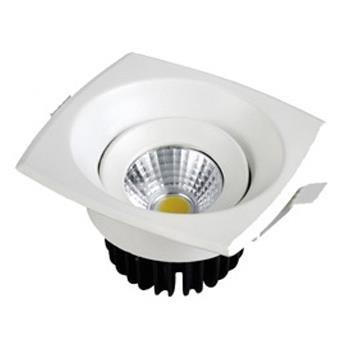Oprawa V-TAC 8W LED V-TAC Downlight COB Kwadrat Biały VT-2908SQ 6000K 550lm