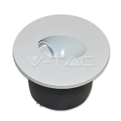 Oprawa Schodowa 3W LED V-TAC Okrągła Biała 230V VT-1109 4000K 120lm