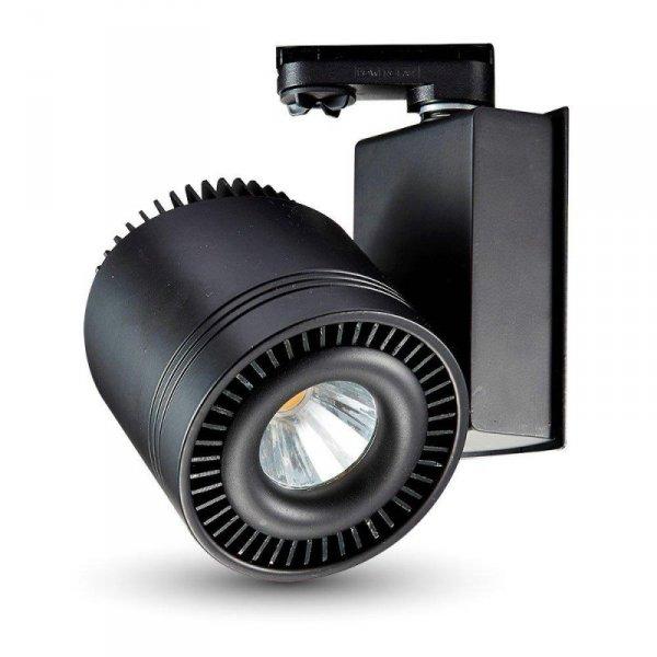 Oprawa Track Light LED V-TAC 33W 25st COB CRI95+ Czarny VT-4535 6000K 1800lm